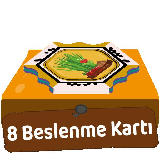 8 adet beslenme şekli kartı